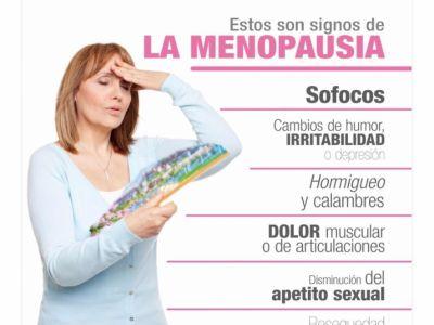 ¡Identifica algunos síntomas de la menopausia!